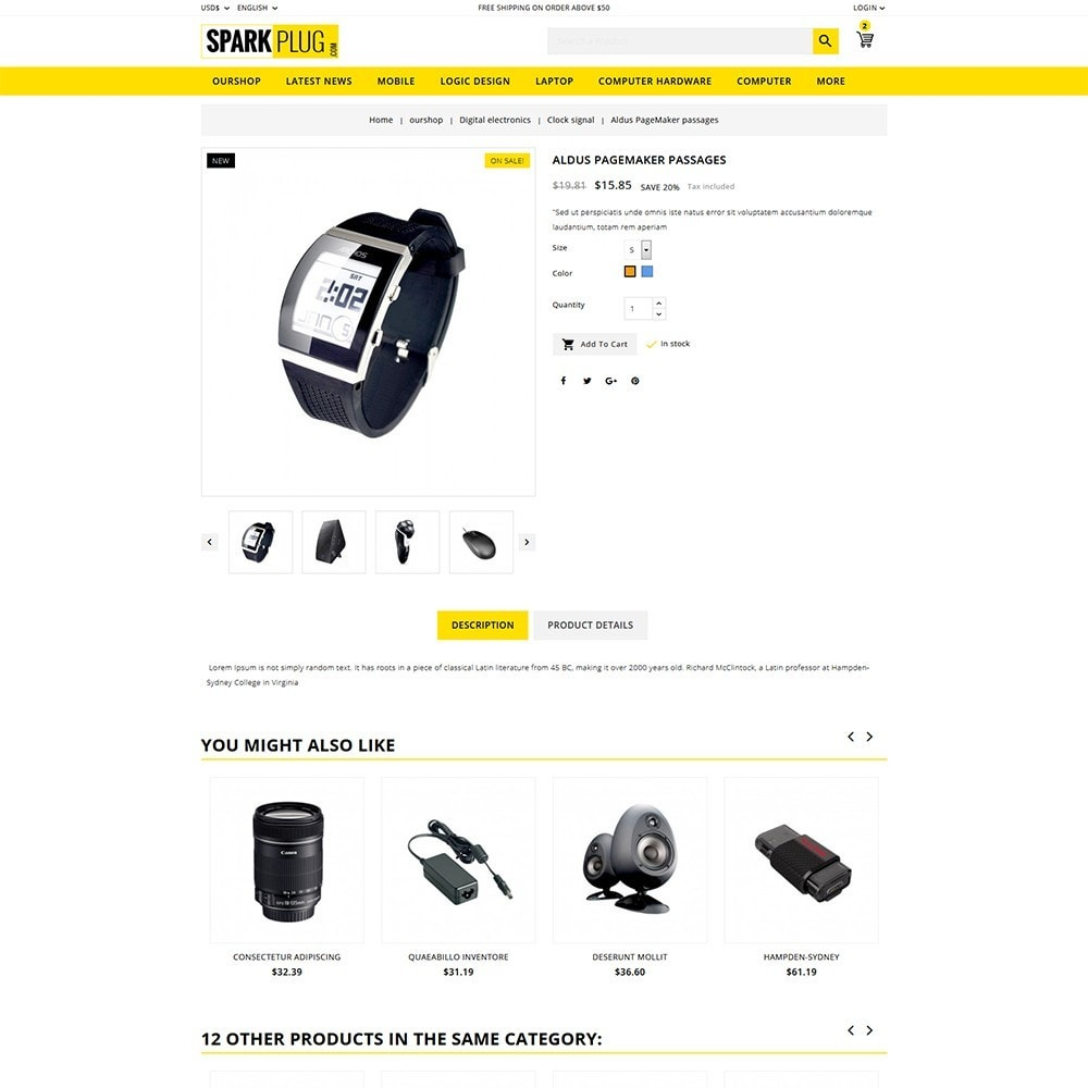 theme - Electronics & Computers - Sparkplug - Electronic Store - 6