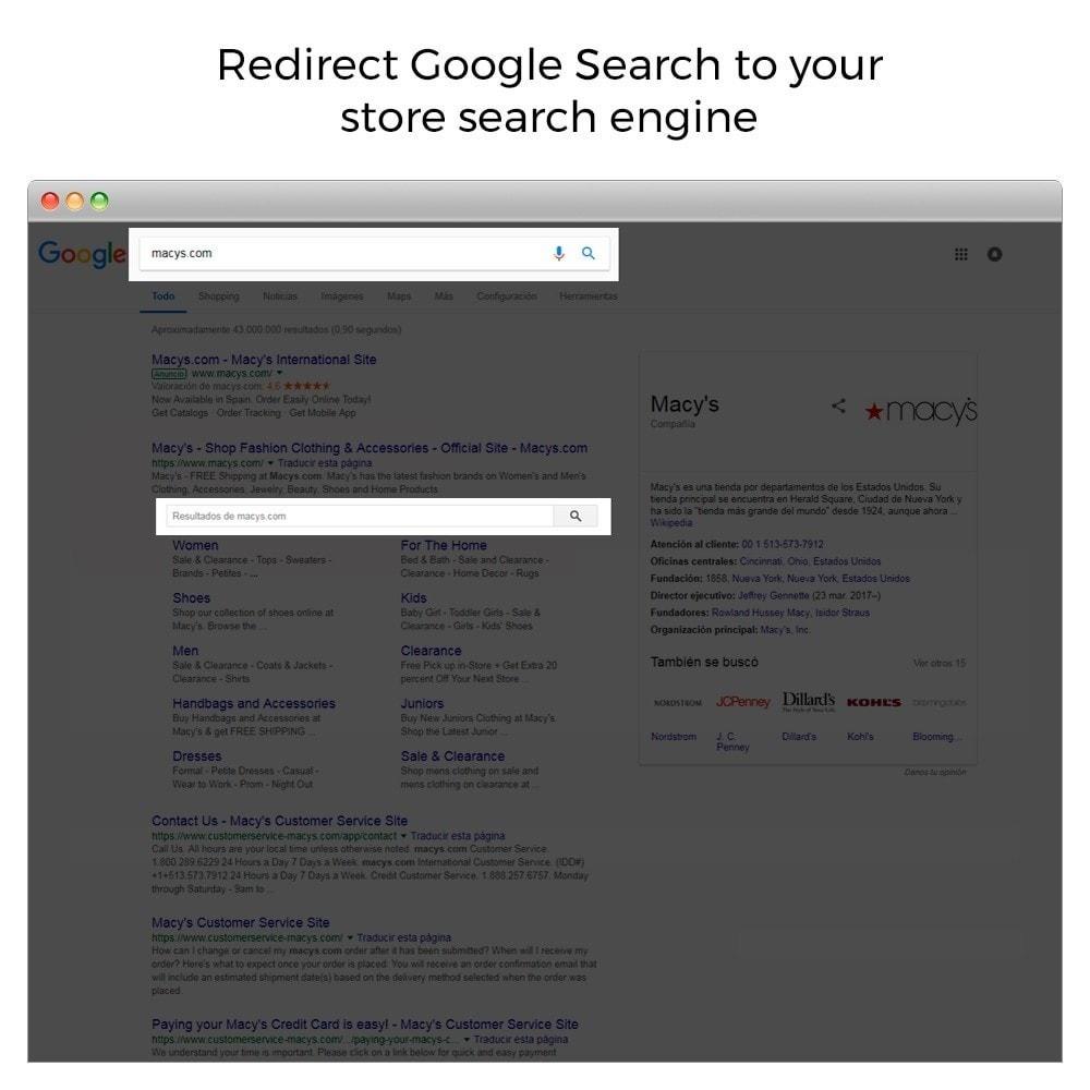 module - SEO (référencement naturel) - Google Sitelink Searchbox - 2