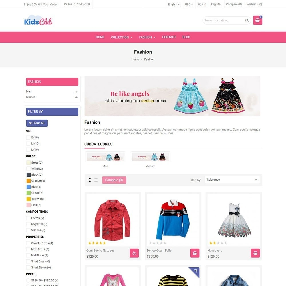theme - Moda & Obuwie - Kids Club Fashion Store - 3