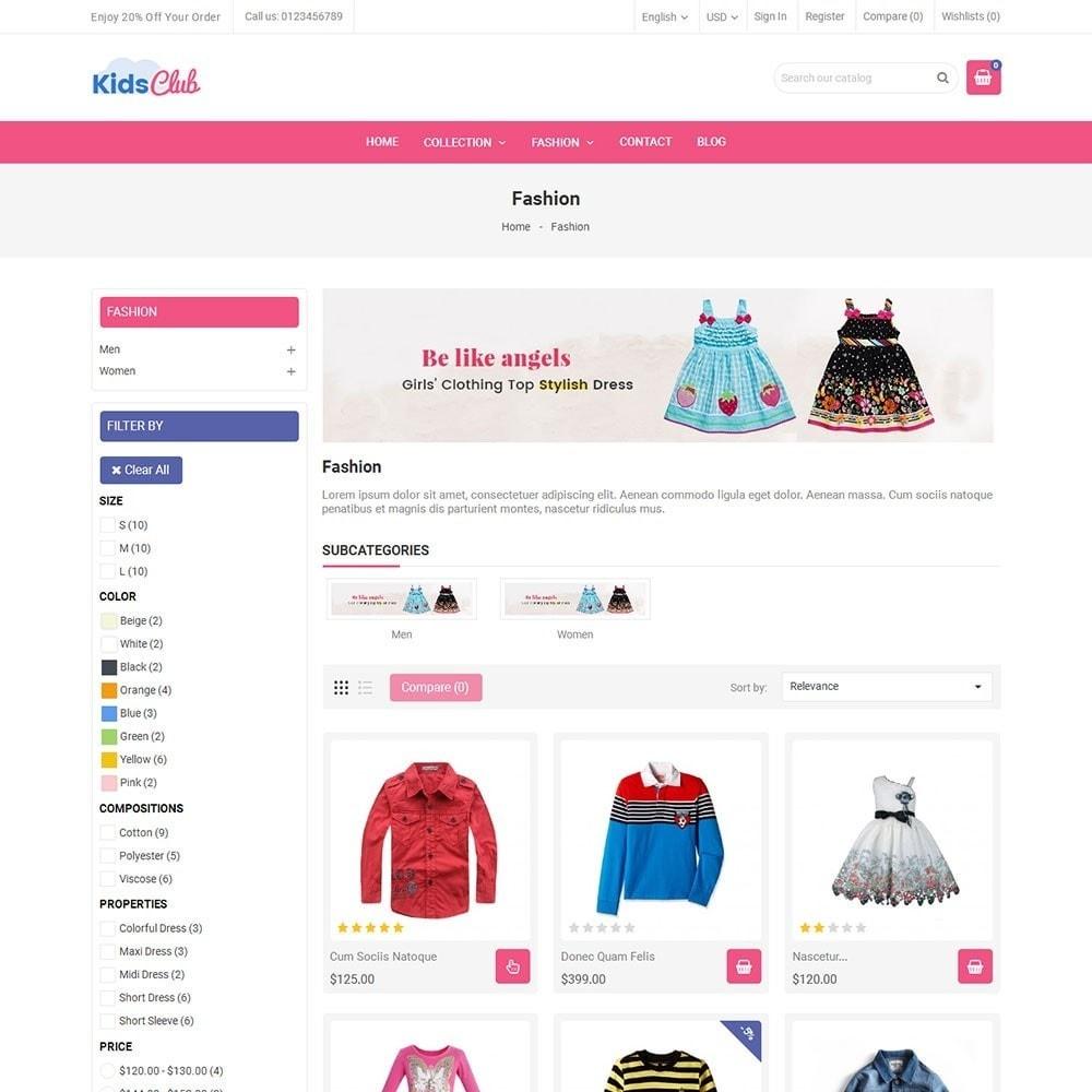 theme - Мода и обувь - Kids Club Fashion Store - 3