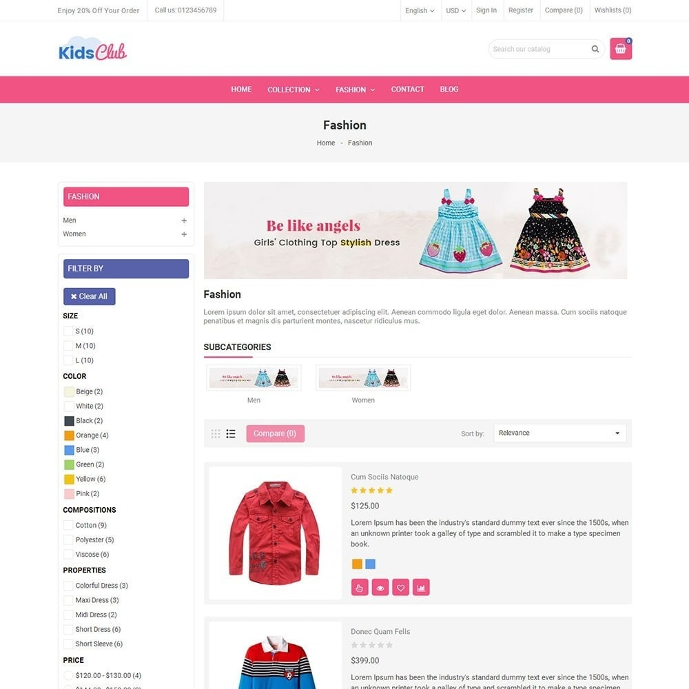 theme - Мода и обувь - Kids Club Fashion Store - 4