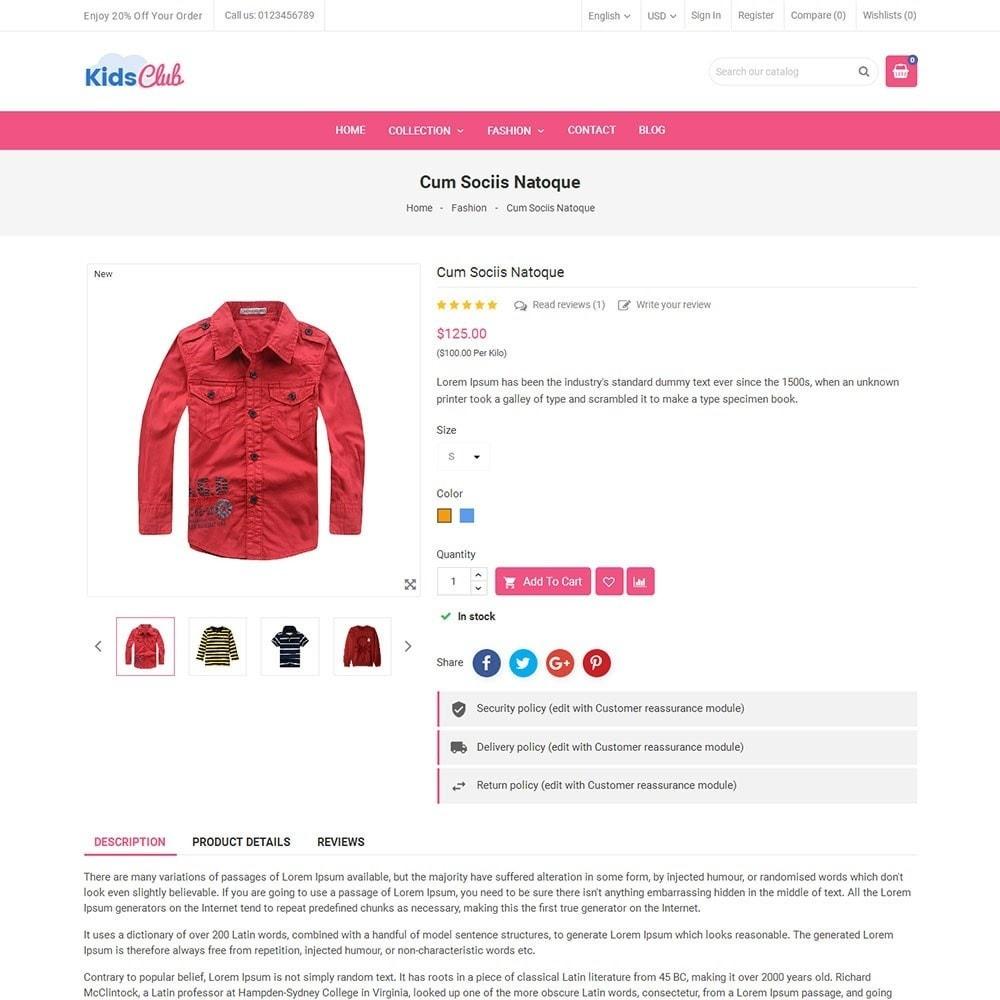 theme - Мода и обувь - Kids Club Fashion Store - 5