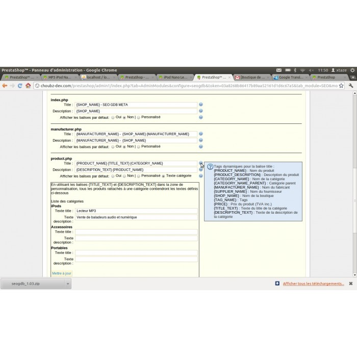 module - SEO (Posicionamiento en buscadores) - Seogdb Meta - 3