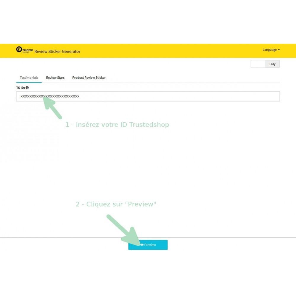 module - Avis clients - Étiquette de notation TrustedShop - 3
