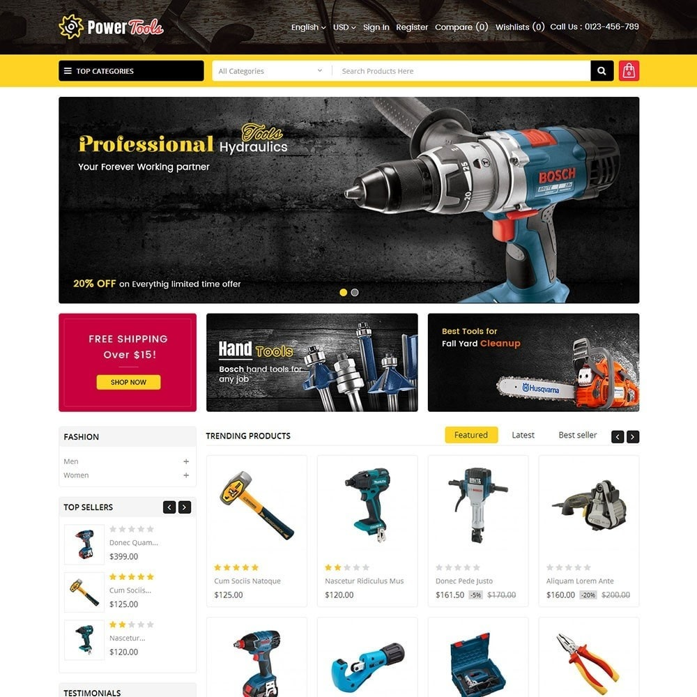 theme - Heim & Garten - Power Tools Store - 2