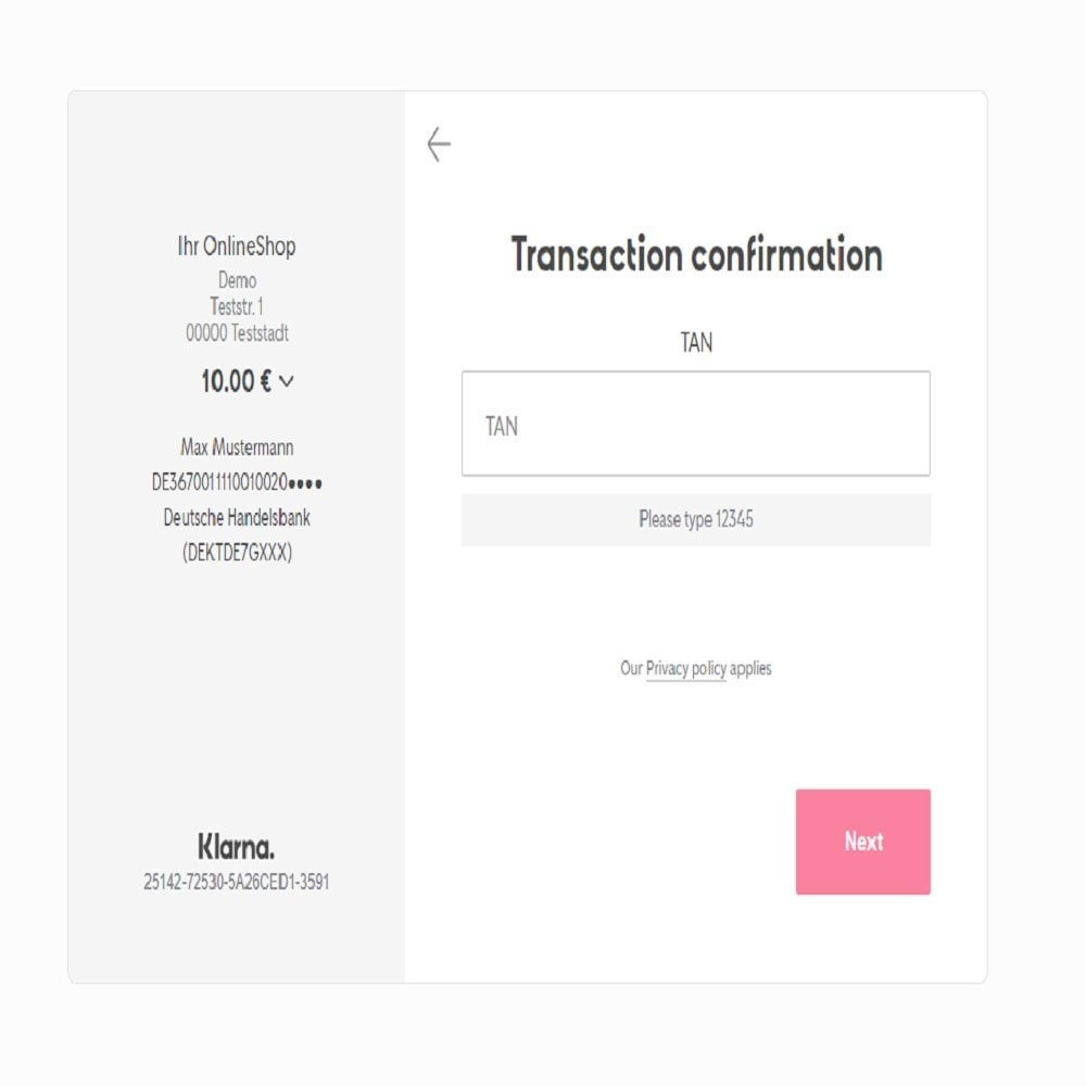 module - Paiement par Transfert Bancaire - Online Bank Transfer - 2