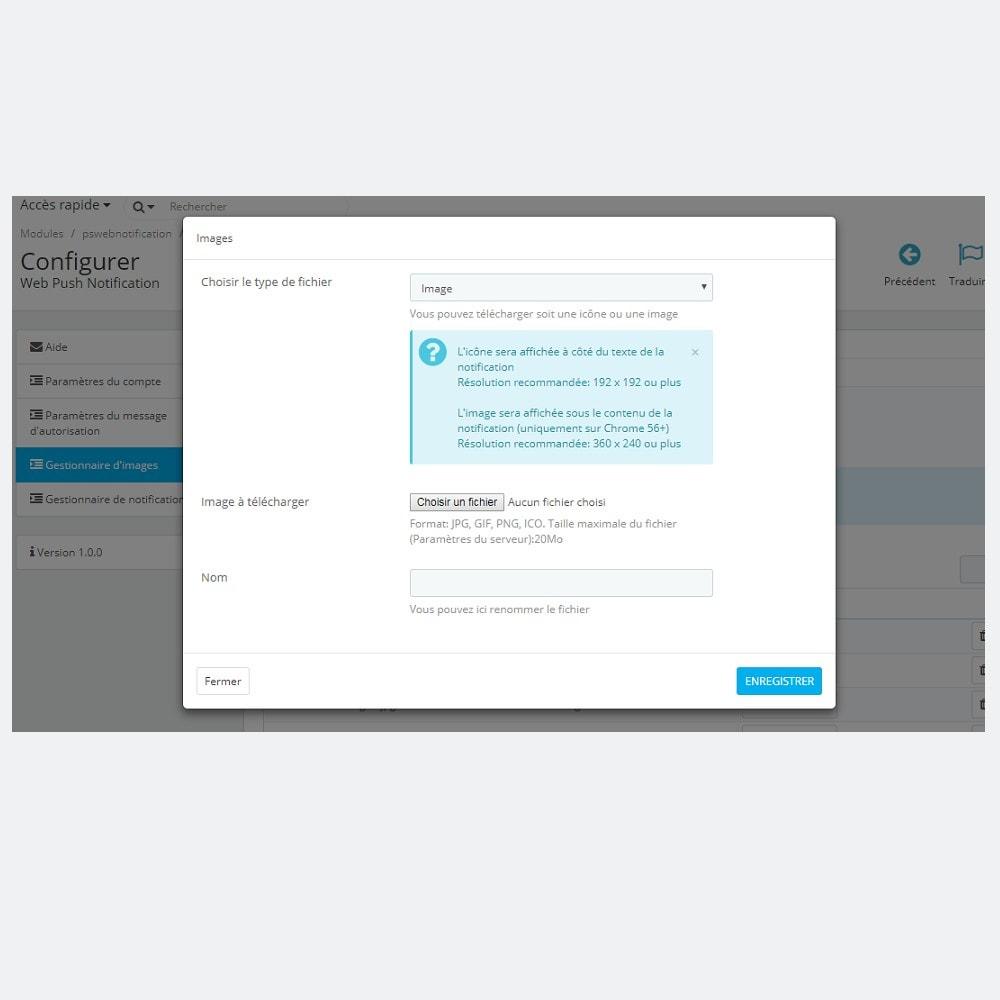 module - E-mails & Notifications - Notifications Push Web - 7
