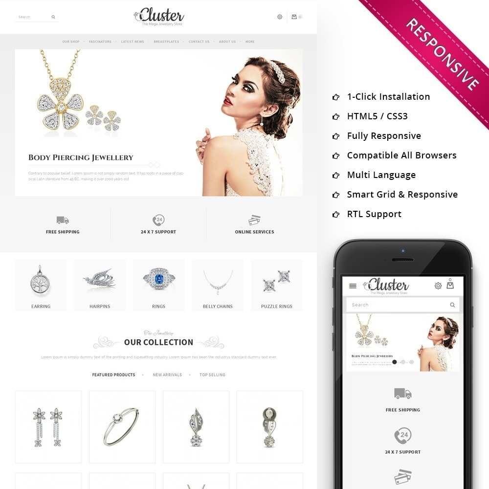 theme - Jewelry & Accessories - Cluster Jewellery Store - 1