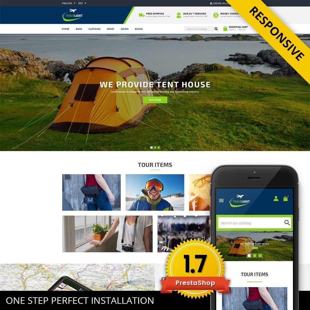 theme - Desporto, Actividades & Viagens - TraveLight - Travel Accessories Store - 1