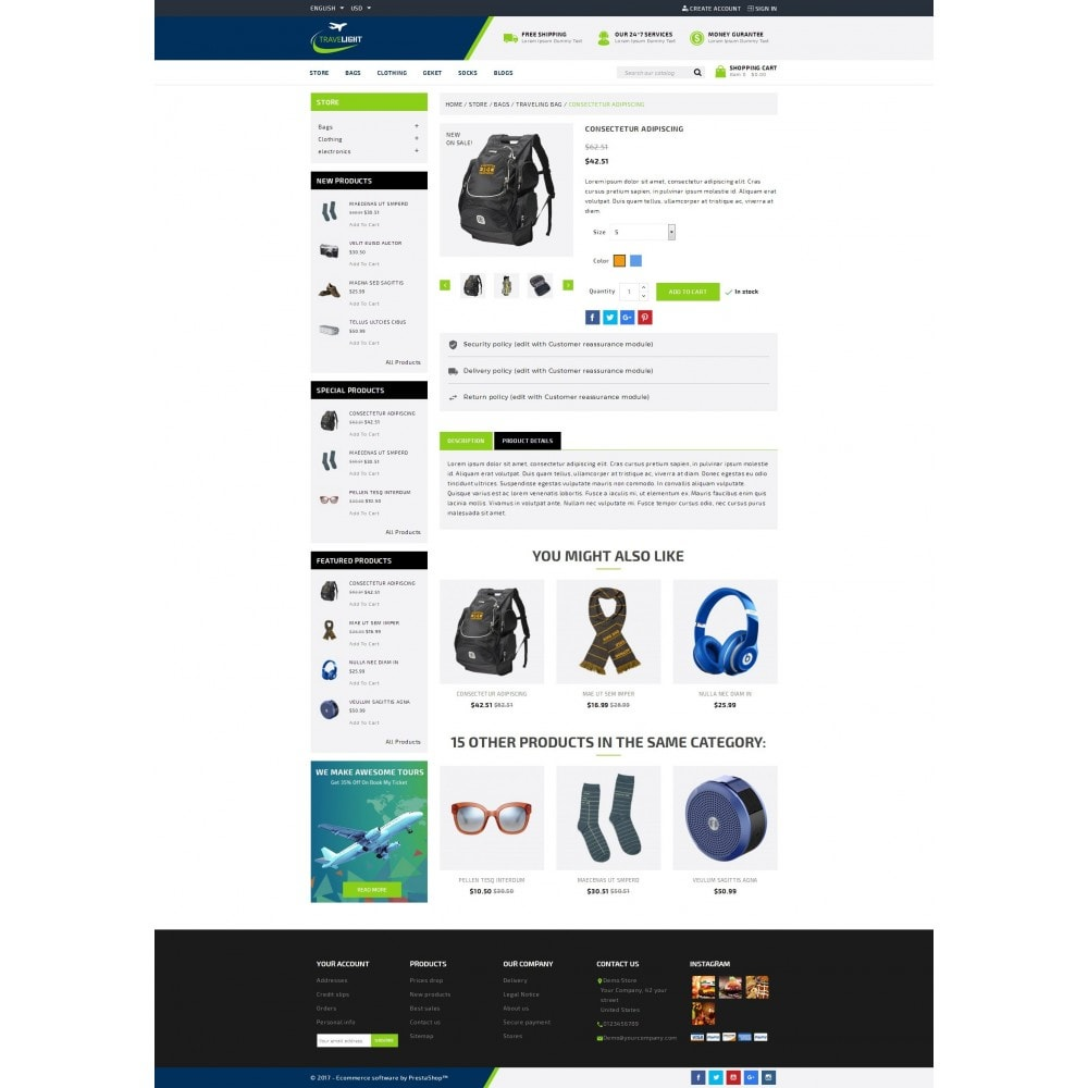 theme - Sport, Loisirs & Voyage - TraveLight - Travel Accessories Store - 5