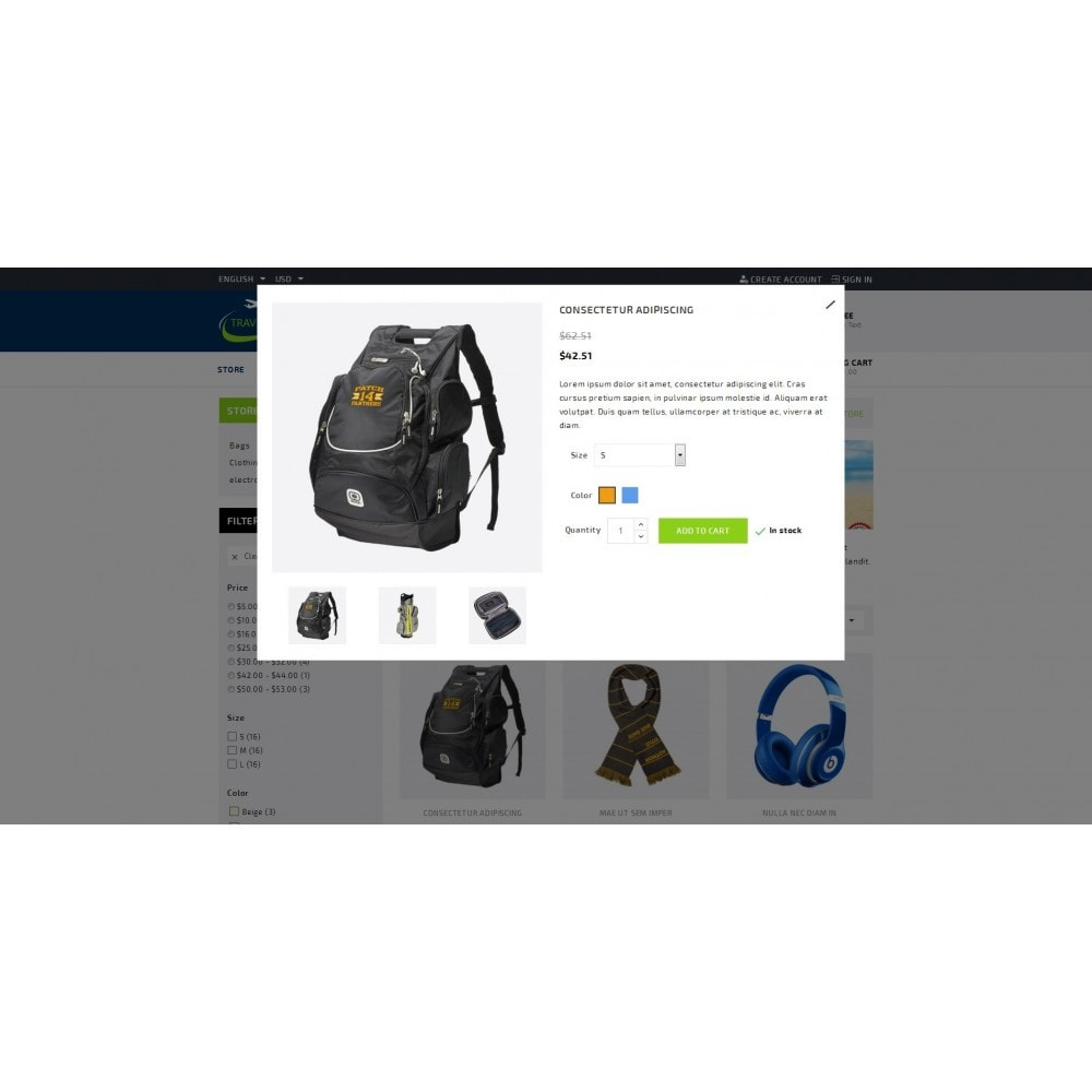 theme - Sport, Attività & Viaggi - TraveLight - Travel Accessories Store - 7
