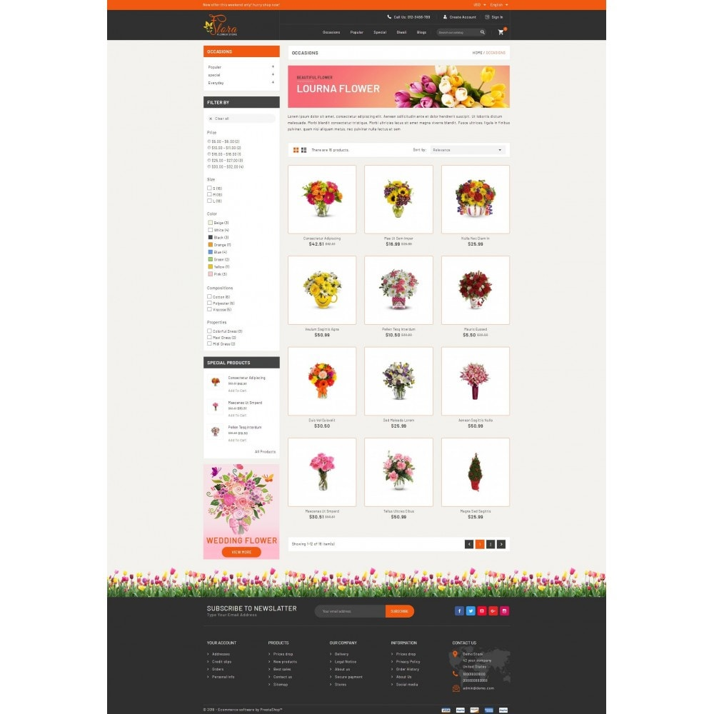 theme - Gifts, Flowers & Celebrations - Flora - Flower Store - 3