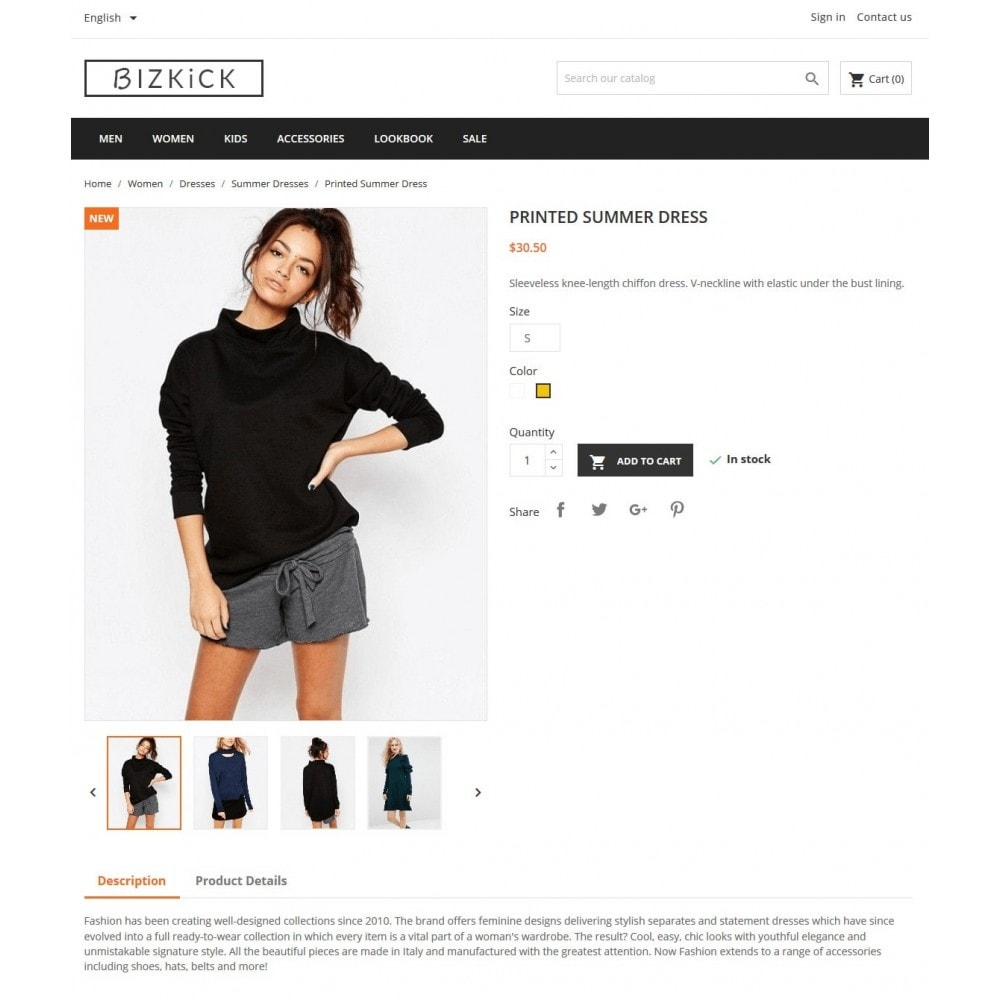 theme - Мода и обувь - BizKick – Fashion Store - 3