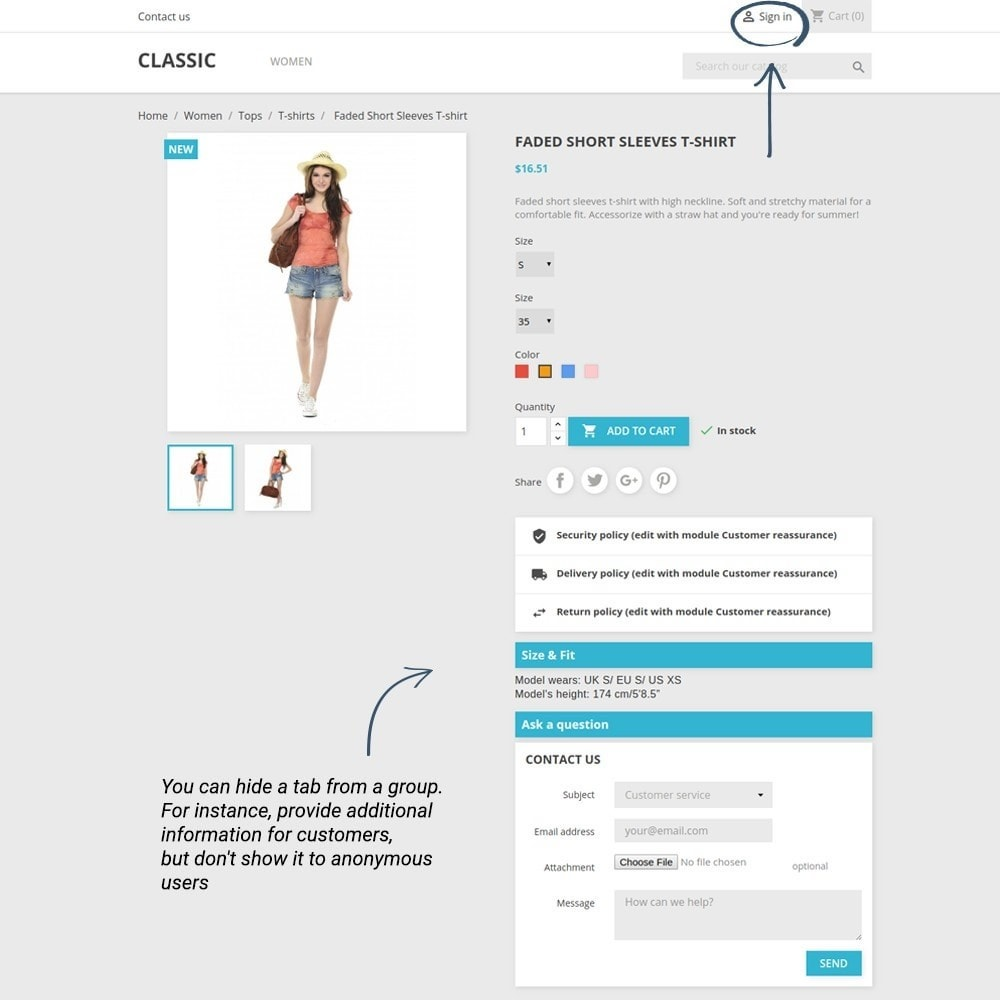 module - Altre informazioni & Product Tab - Product Tabs - 4