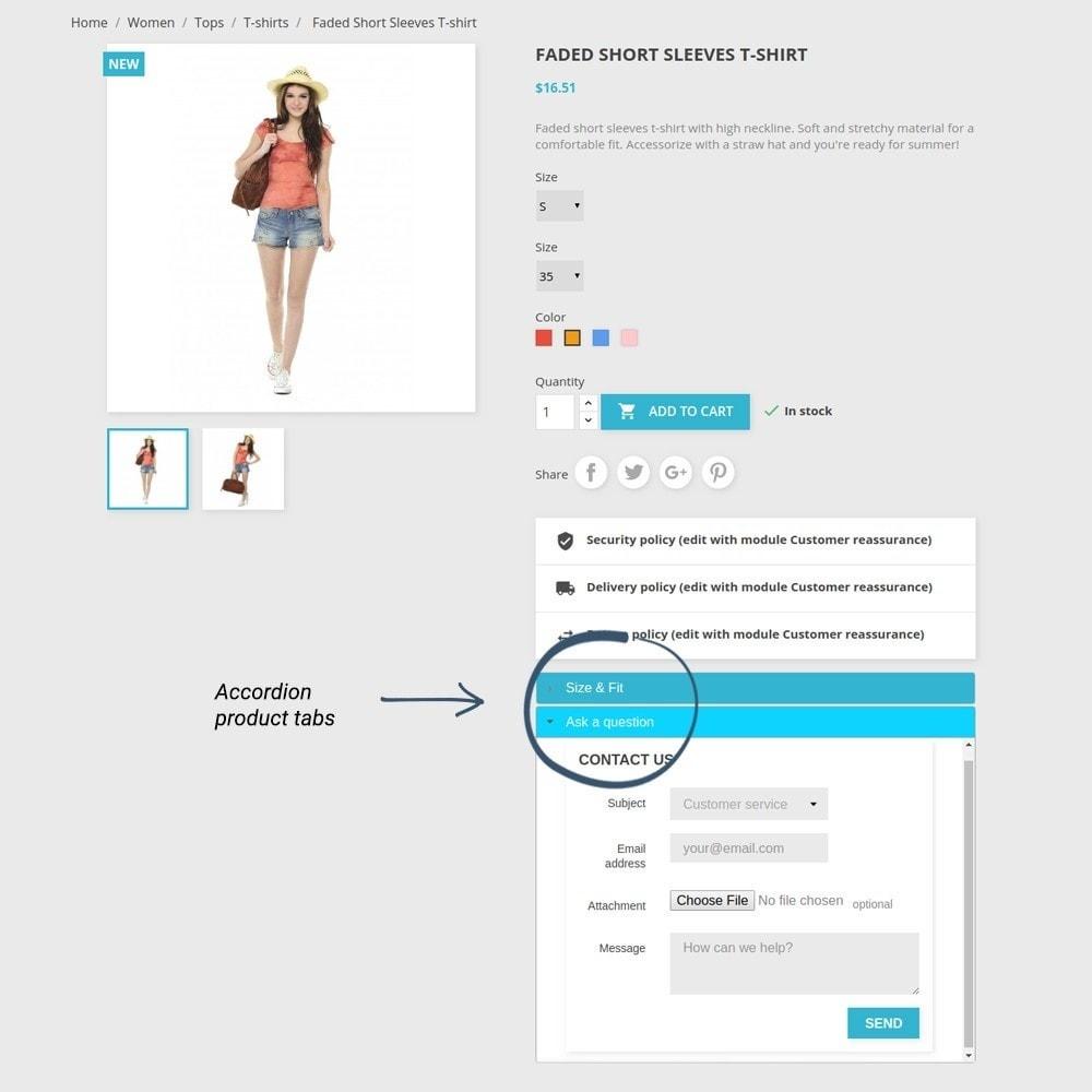 module - Altre informazioni & Product Tab - Product Tabs - 14