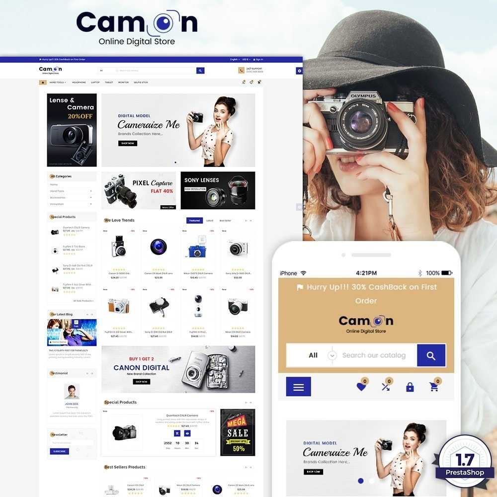 theme - Eletrônicos & High Tech - Camon – Electronices Super Store v3 - 1