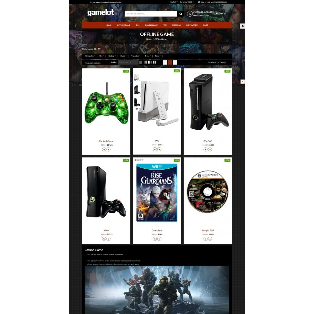 theme - Elektronica & High Tech - Games and Movies Store - 3