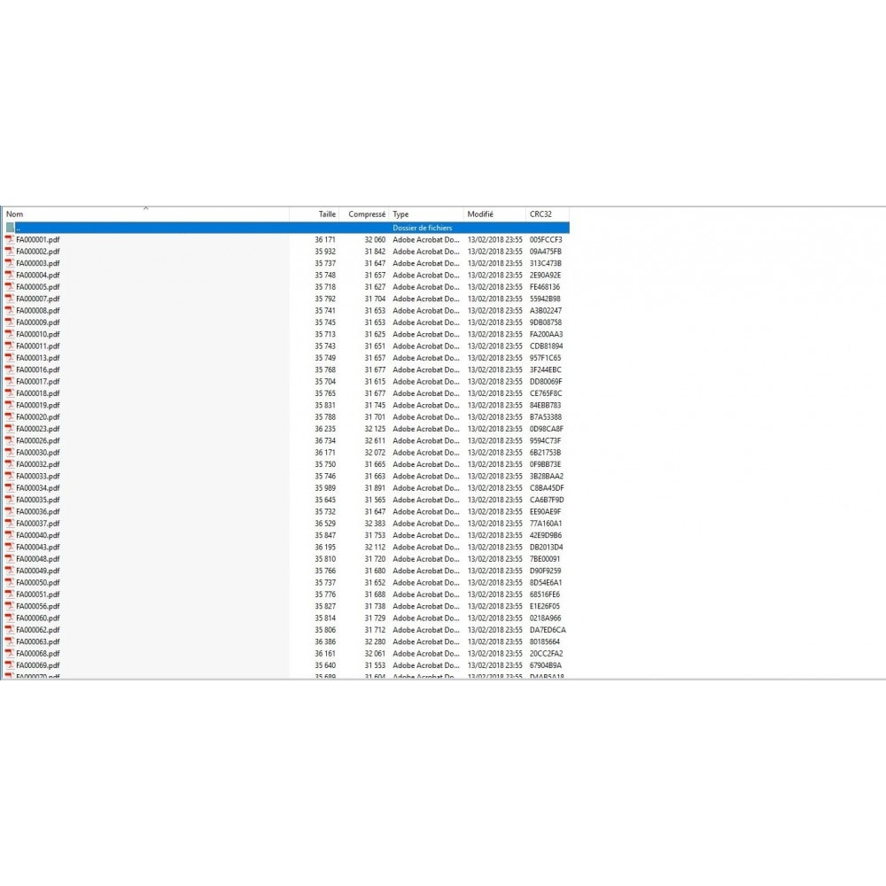 module - Contabilidade & Cobrança - Exportar faturas / crédito PDF: ZIP, e-mail, FTP, local - 5