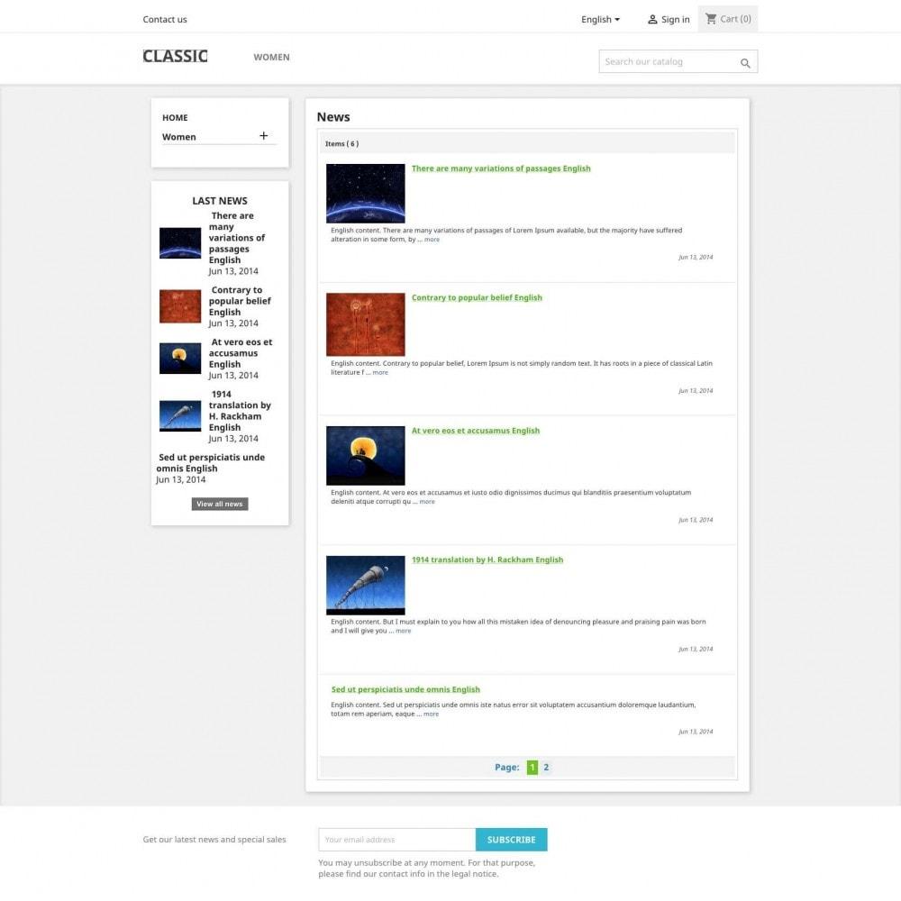 module - Blog, Forum & Actualités - News - 1