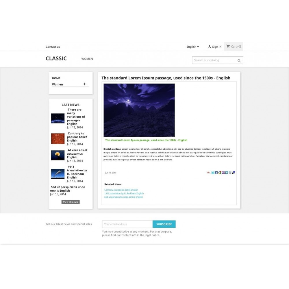 module - Blog, Foro y Noticias - News - 2