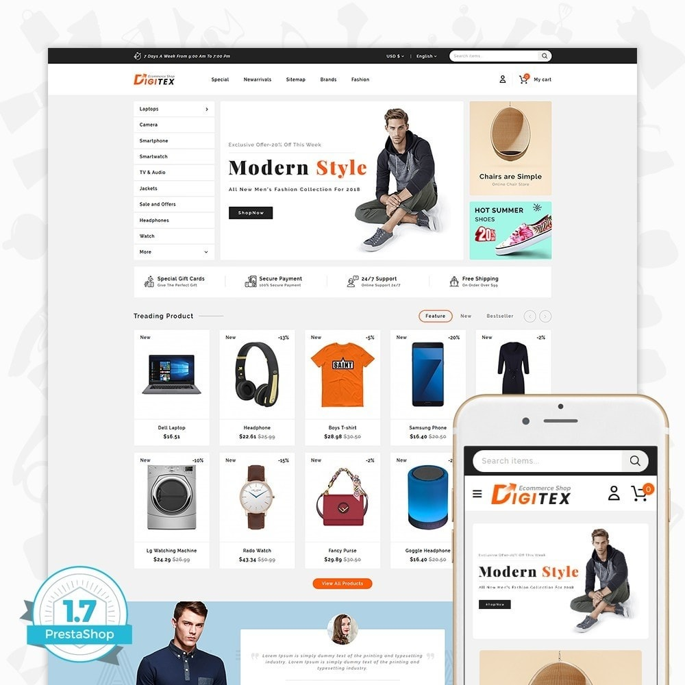 theme - Electronique & High Tech - Digitex - The Ecommerce Shop - 1
