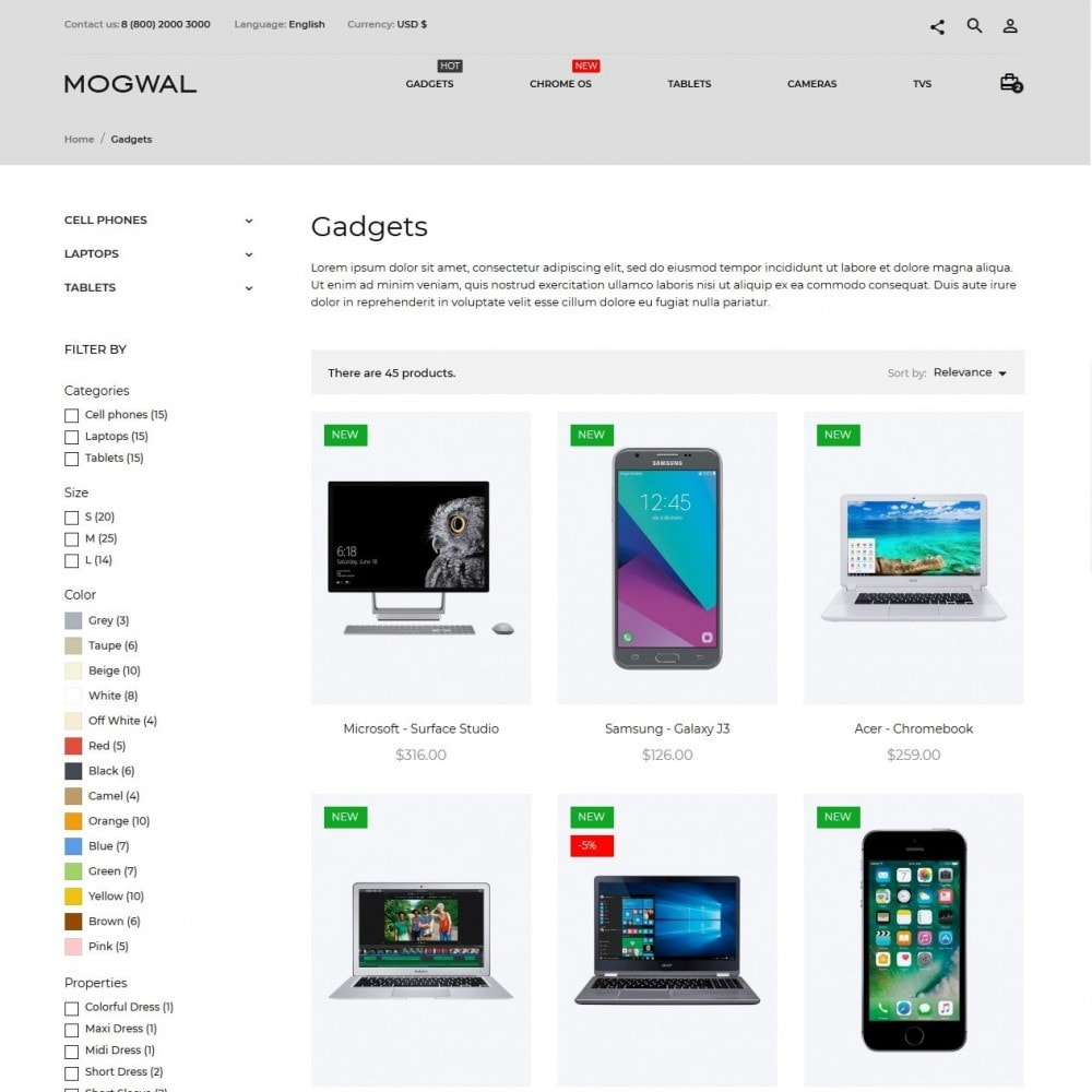 theme - Eletrônicos & High Tech - mogwal - High-tech Shop - 5