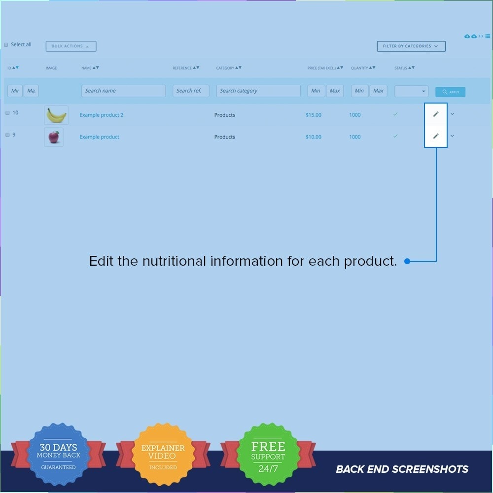 module - Informação Adicional & Aba de Produto - Product Nutritional Details - 5