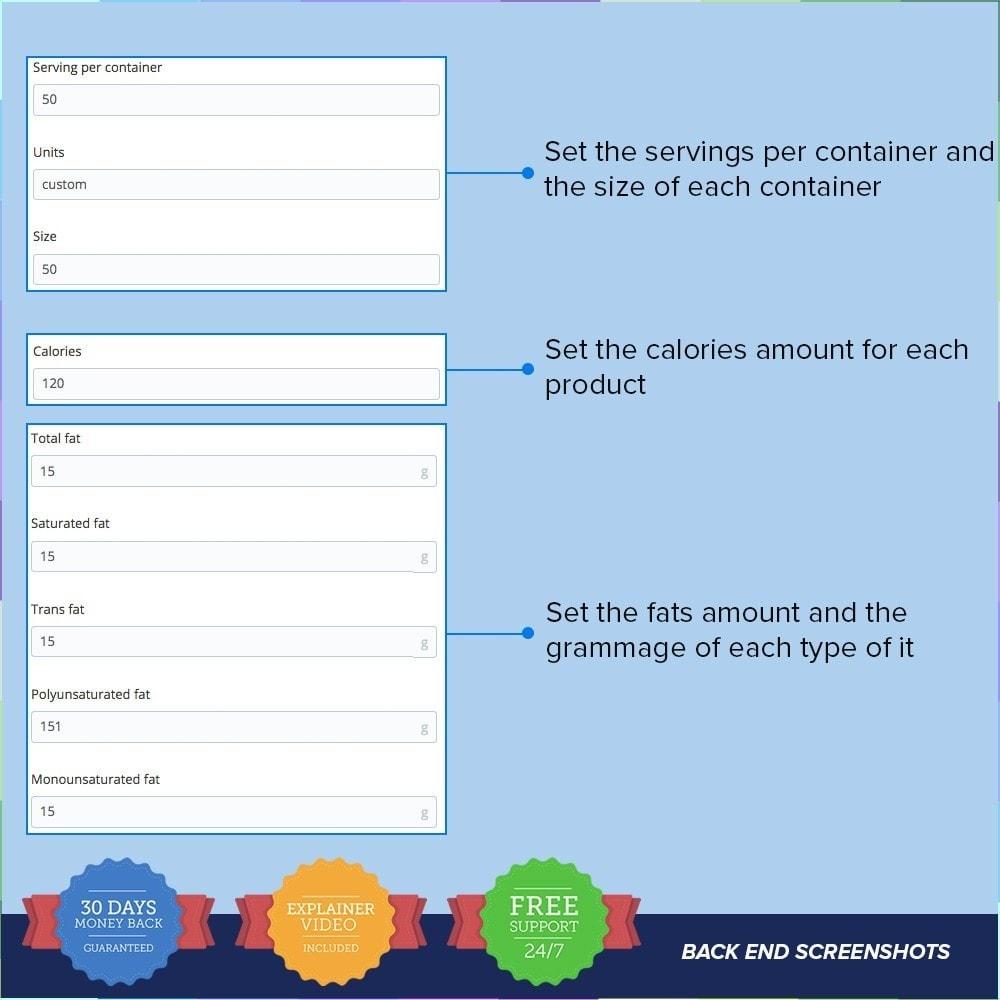 module - Zusatzinformationen & Produkt-Tabs - Product Nutritional Details Pro - 4