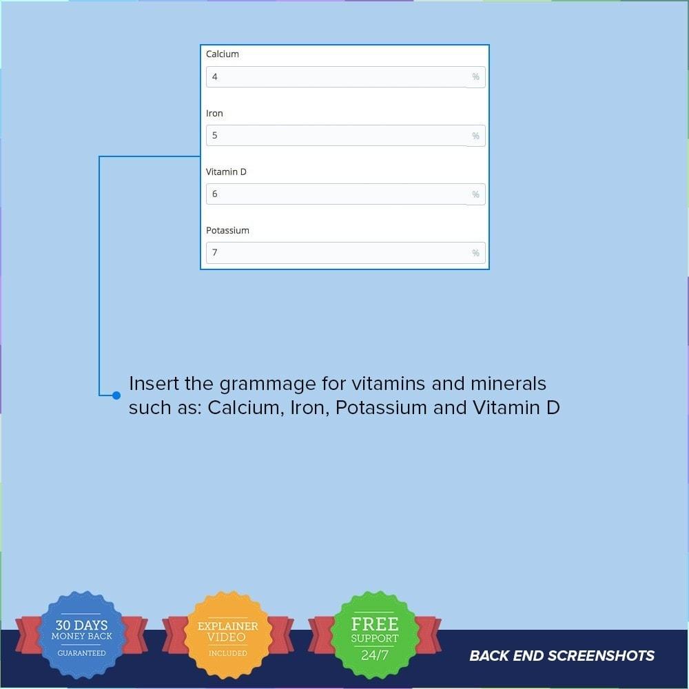 module - Informação Adicional & Aba de Produto - Product Nutritional Details - 8