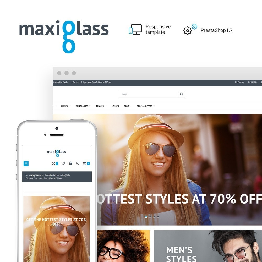 theme - Fashion & Shoes - MaxiGlass - Optometric Store - 1