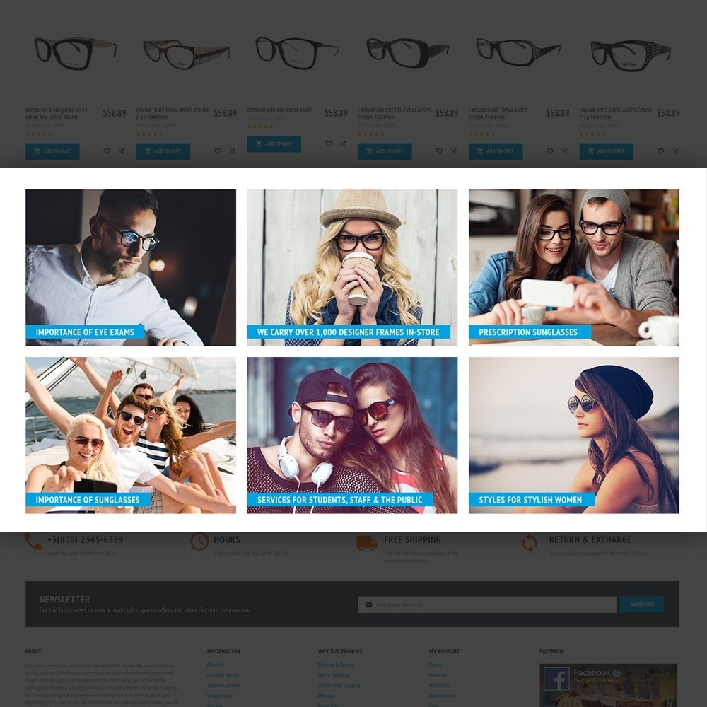 theme - Fashion & Shoes - MaxiGlass - Optometric Store - 6