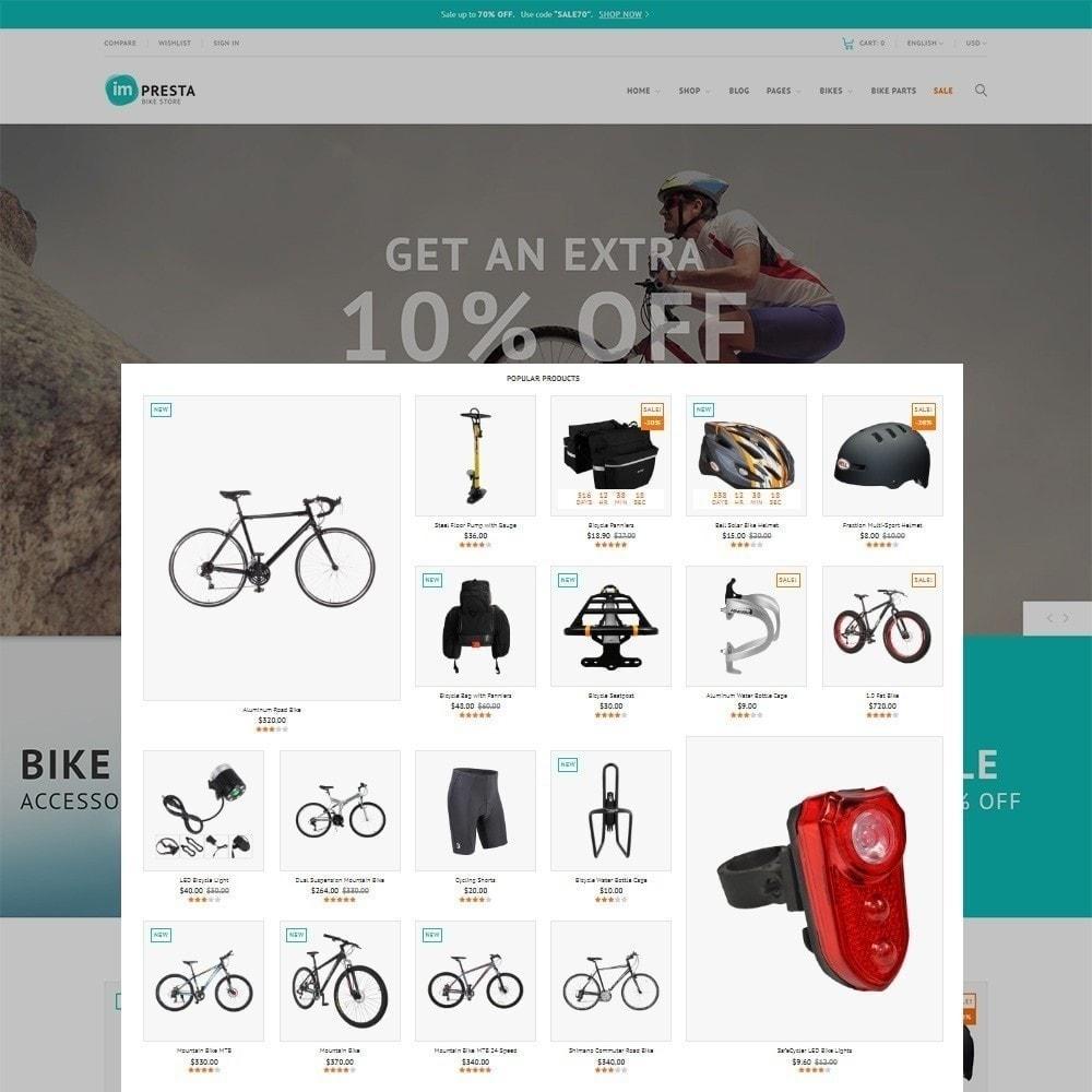 theme - Sport, Attività & Viaggi - Impresta - per Un Sito di Negozio di Biciclette - 4