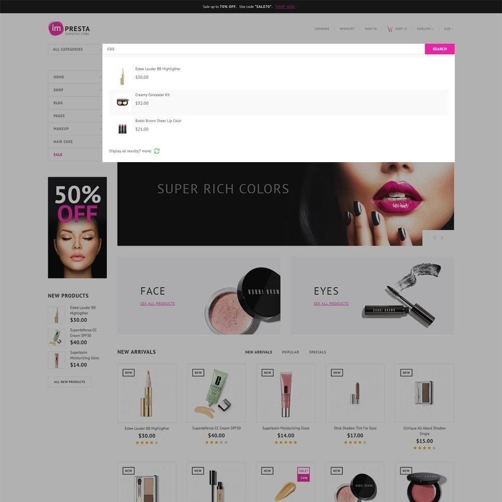 theme - Salud y Belleza - Impresta - para Tienda de Cosméticos - 4
