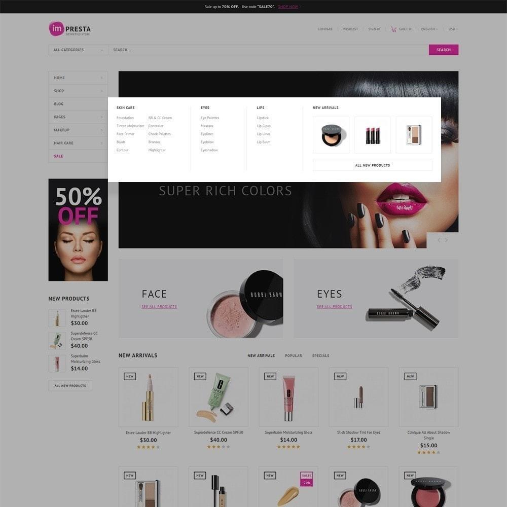 theme - Salud y Belleza - Impresta - para Tienda de Cosméticos - 5