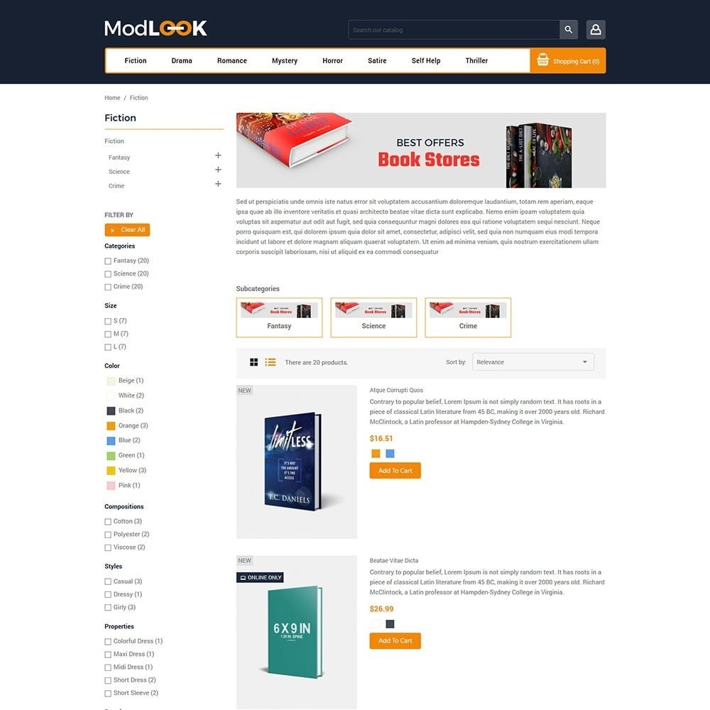 theme - Art & Culture - Modlook - Books Online Store - 4