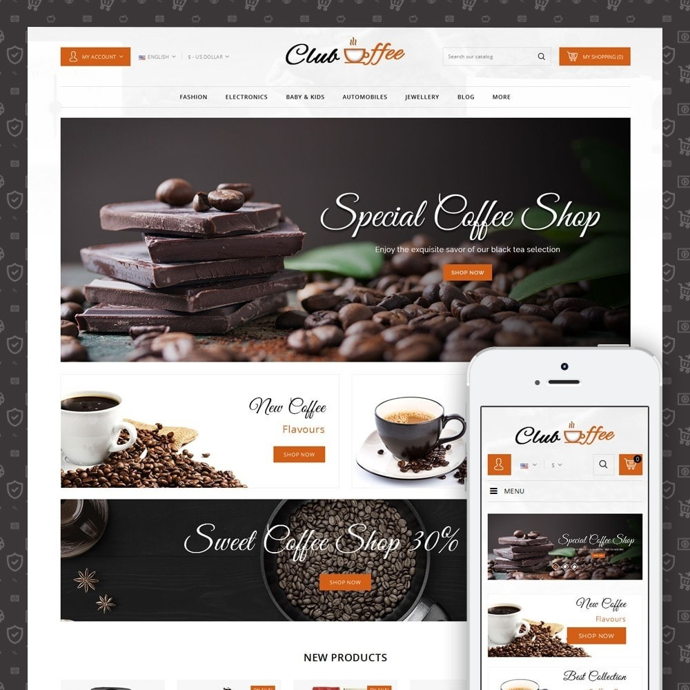 theme - Alimentos & Restaurantes - Club Coffee Shop - 1