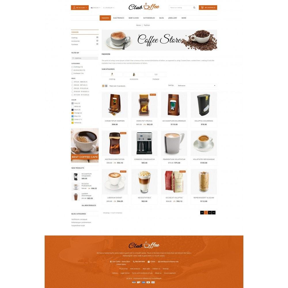 theme - Alimentation & Restauration - Club Coffee Shop - 3