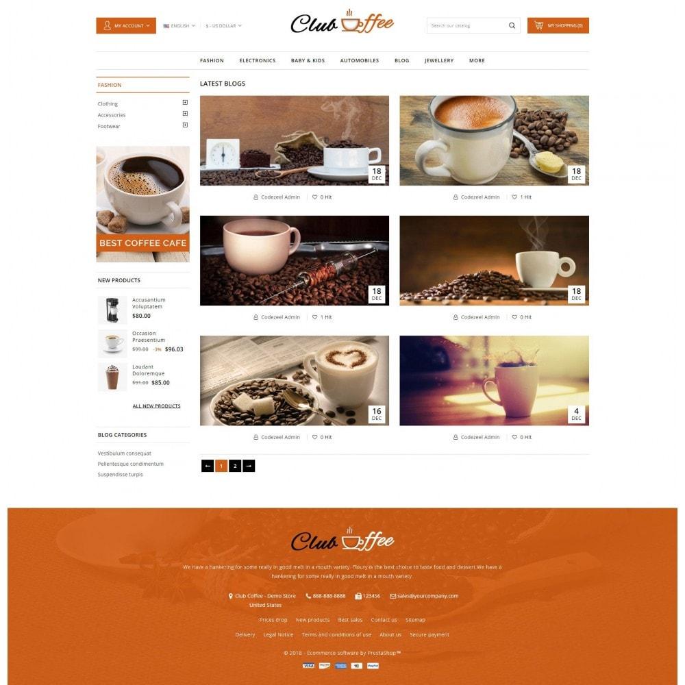 theme - Alimentation & Restauration - Club Coffee Shop - 9