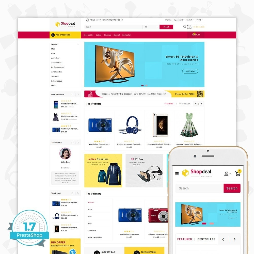 theme - Elektronika & High Tech - Shopdeal - The Multistore Template - 1