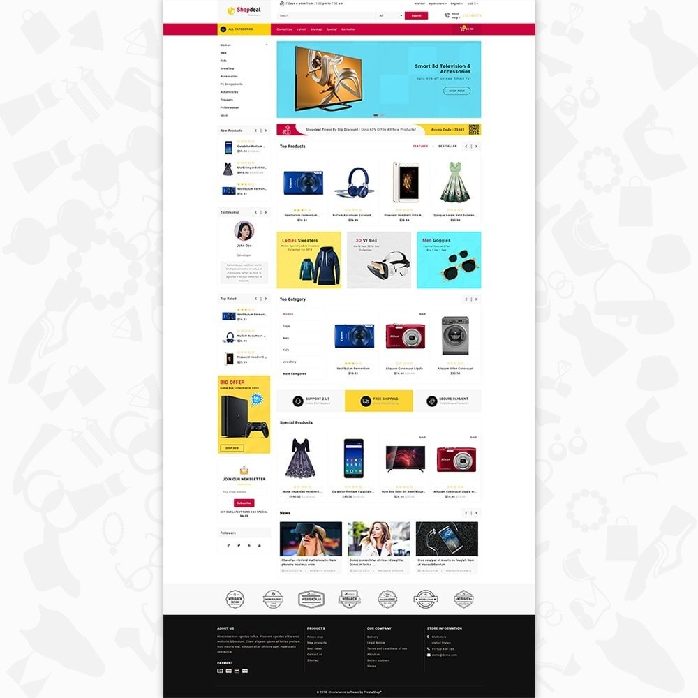 theme - Elektronika & High Tech - Shopdeal - The Multistore Template - 2