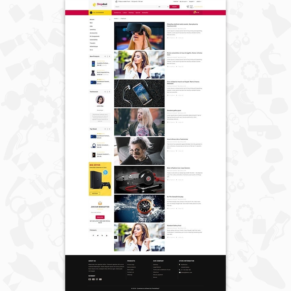 theme - Elektronika & High Tech - Shopdeal - The Multistore Template - 6
