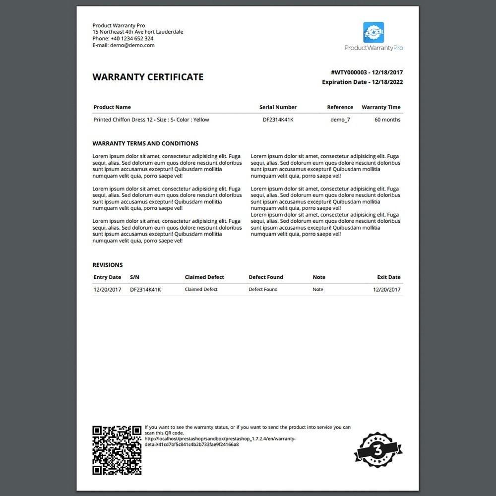 module - Gestione Ordini - Garanzia del Prodotto Pro - 2