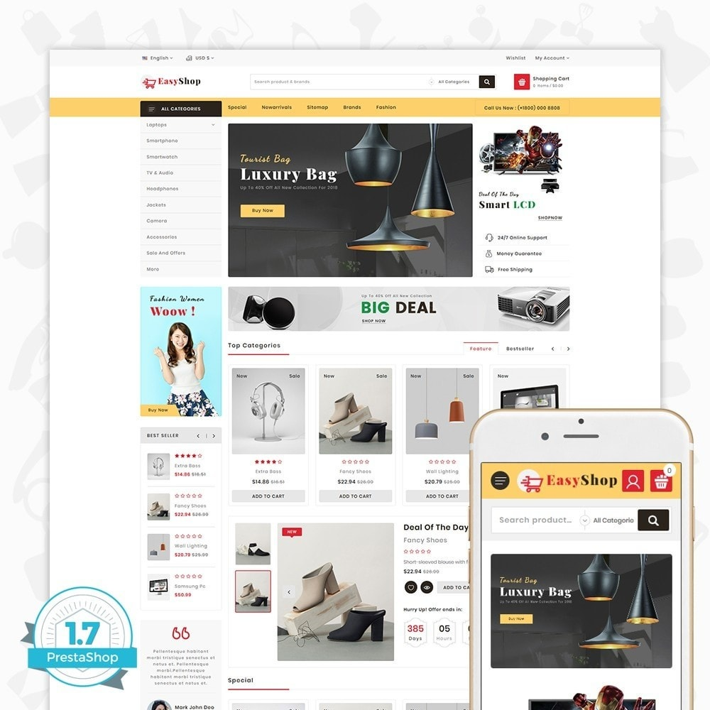theme - Electronique & High Tech - Easy shop - The Mega Ecommerce Store - 1