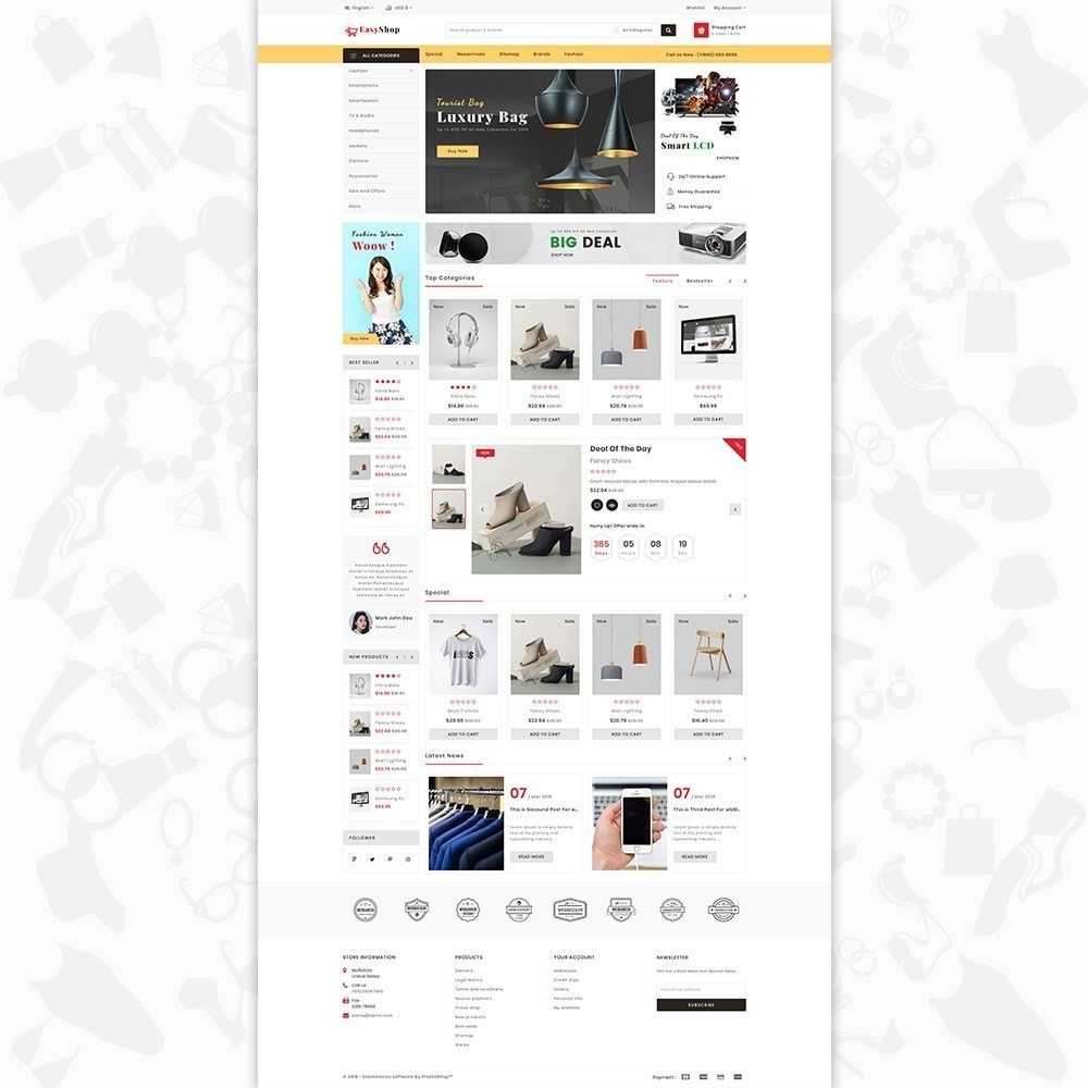 theme - Electronique & High Tech - Easy shop - The Mega Ecommerce Store - 2