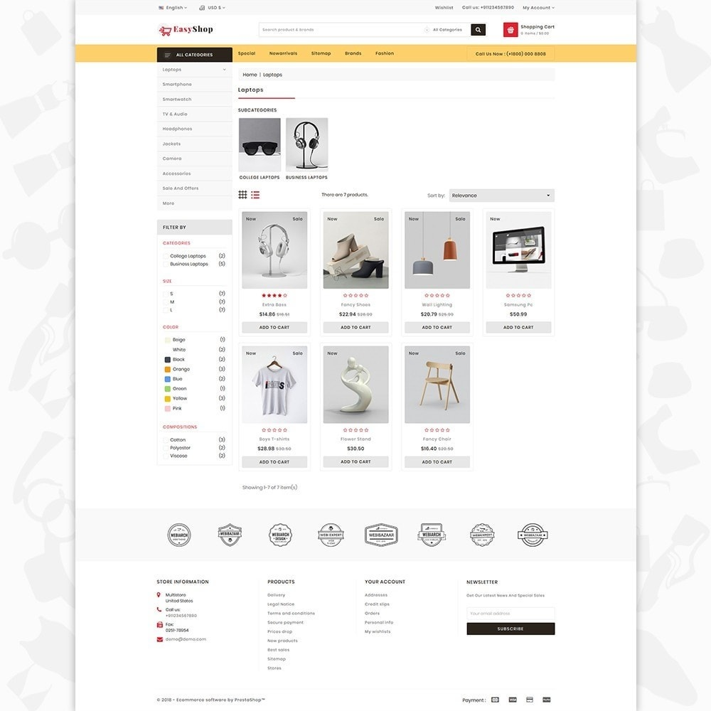 theme - Electronique & High Tech - Easy shop - The Mega Ecommerce Store - 3