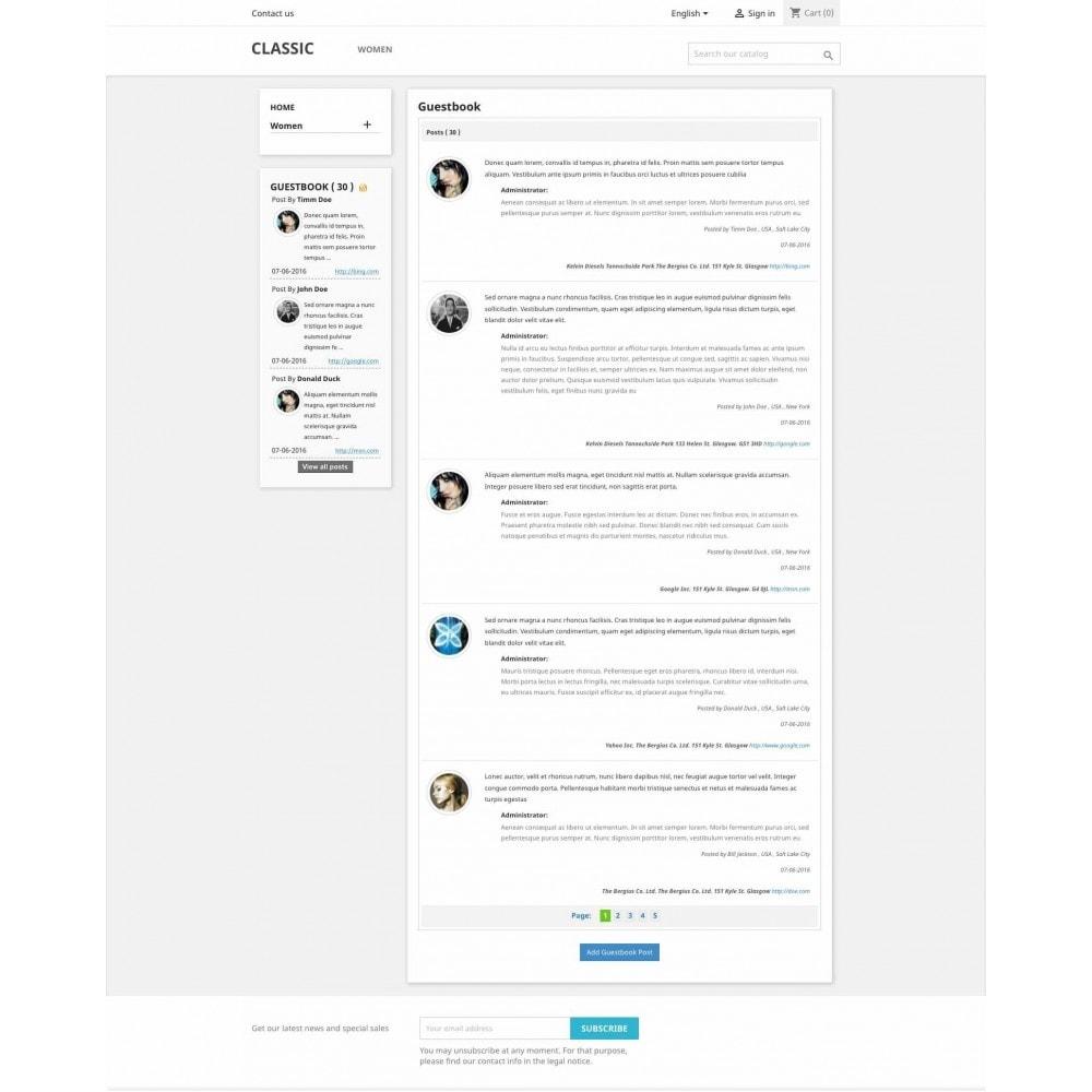 module - Отзывы клиентов - Guestbook - 1