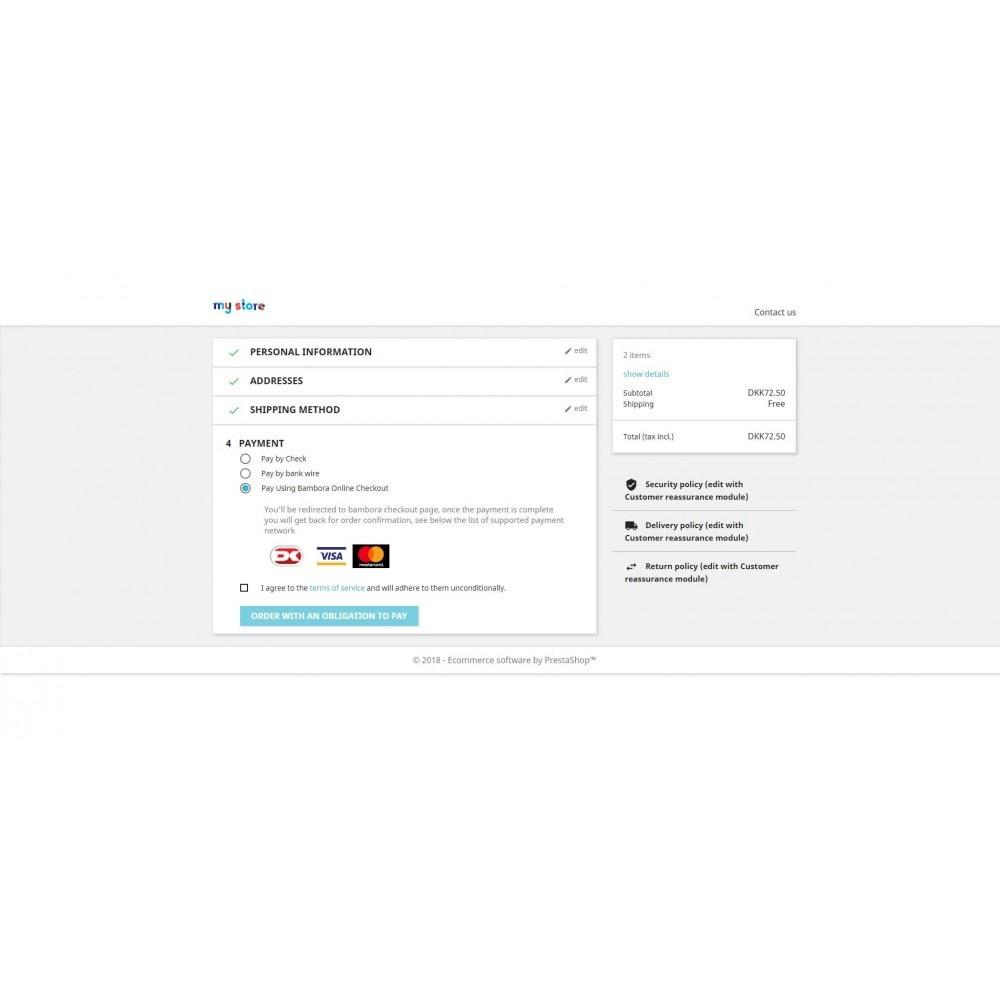 module - Paiement par Carte ou Wallet - Bambora Europe By WizeProc - 1