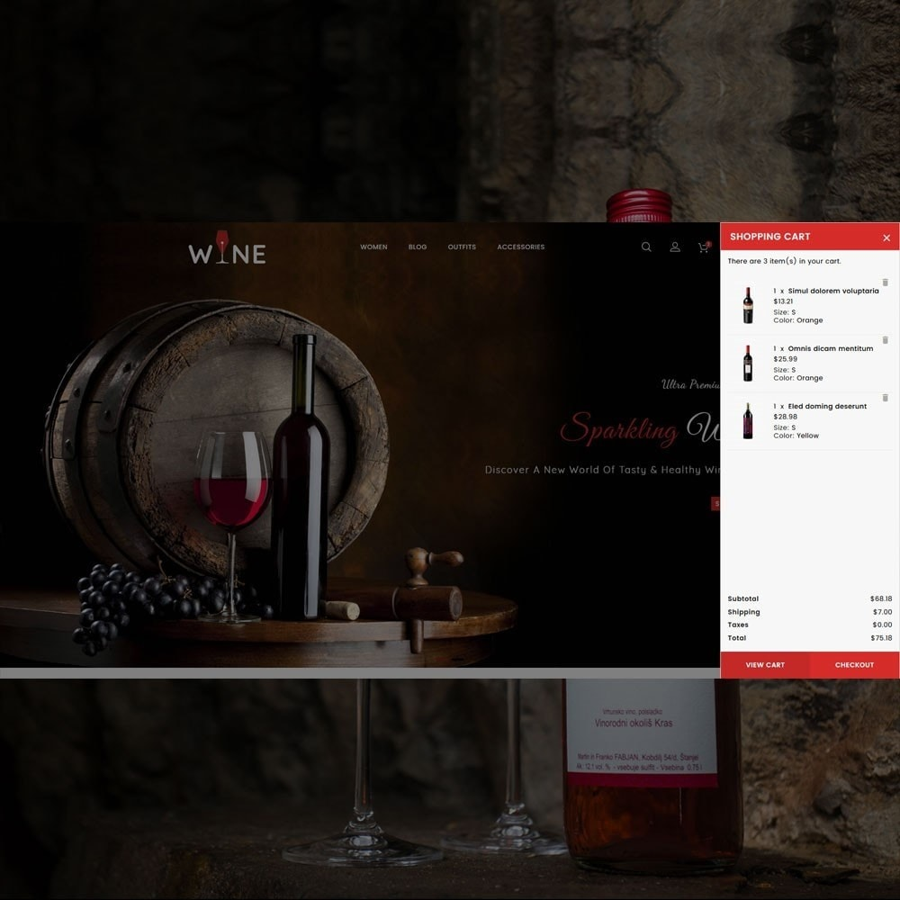 theme - Drink & Wine - Wine Store - 2