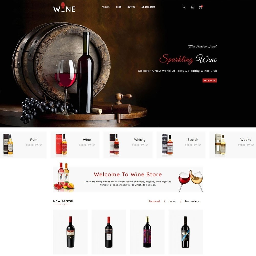 theme - Drink & Wine - Wine Store - 3