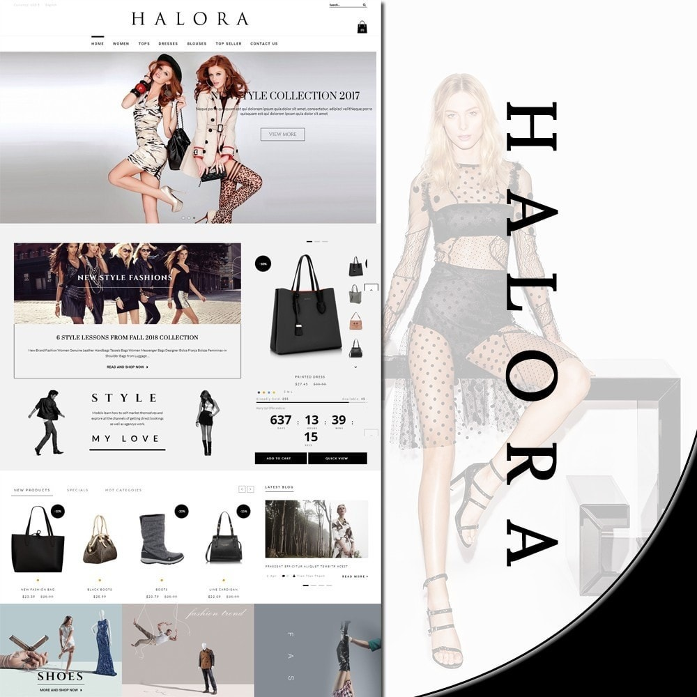 theme - Fashion & Shoes - Halora Fashion Store - 1